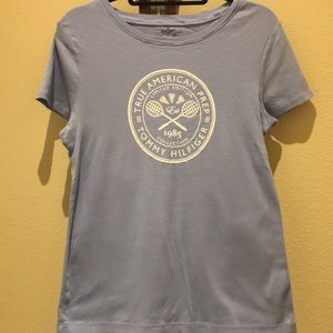 Tommy Hilfiger Periwinkle 100% Cotton Tee